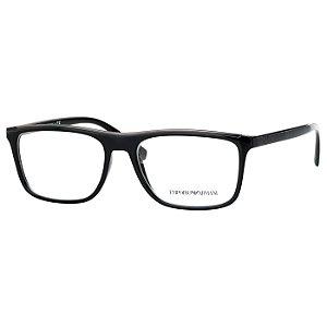 Armação de Óculos Empório Armani Masculino EA3124 Preto Brilho Médio