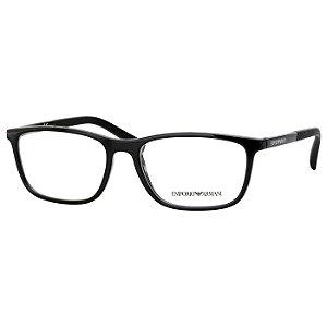 Armação de Óculos Empório Armani EA3069 Preto Brilho Masculino Médio