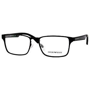 Armação de Óculos Masculino Emporio Armani EA1063 Metal Preto Fosco Médio