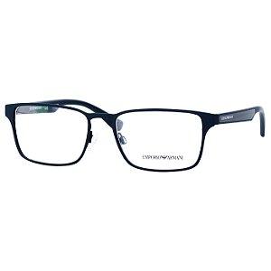 Oculos de Grau Masculino Emporio Armani EA1063 Azul Petróleo Emborrachado Fosco