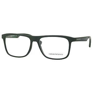 Óculos de Grau Empório Armani EA3117 Verde Fosco Emborrachado Masculino Médio