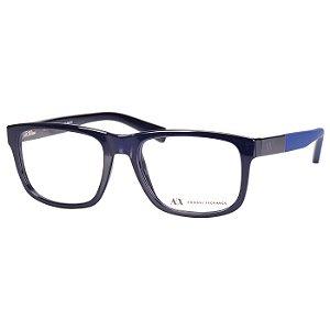 Oculos de Grau Masculino Armani Exchange AX3025L Azul Brilho Médio