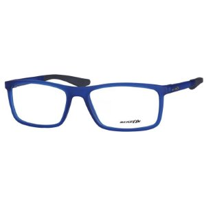 Óculos de Grau Masculino Arnette AN7134L Azul Translúcido Fosco