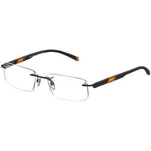 Óculos de Grau Mormaii Parafusado MO1128 Preto Fosco com Laranja Medio