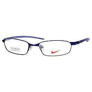 Óculos de Grau Pequeno Nike 4102 Metal Azul Brilho