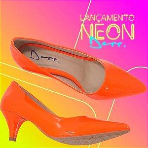 d19f0c6a67 Scarpin Neon Verniz Sapatos Femininos Bico Fino Depp Calçados.