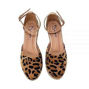 660314f1b Espadrille Onça Com Juta Lurex Sapatos Femininos Depp Calçados.