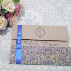 Convite Casamento Rústico Keli