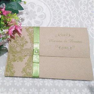 Convite Casamento Rústico Marina
