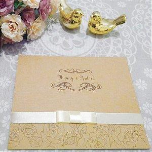 Convite Casamento Rústico Thuany