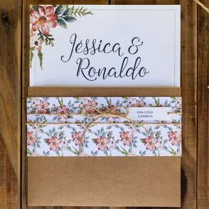 Convite Casamento Rústico J&R