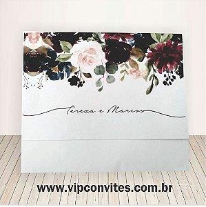 Convite Floral Marsala T&M