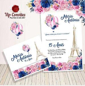 Convite Floral Paris