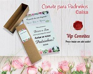 CONVITE PADRINHO CAIXA (MÍNIMO 10 UNIDADES)