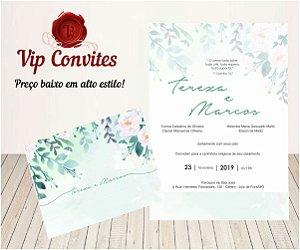 Convite Floral Green T&M