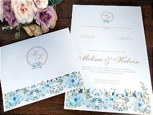 Convite Blue Flowers