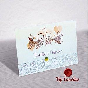 Convite de Casamento Passarinho Romântico