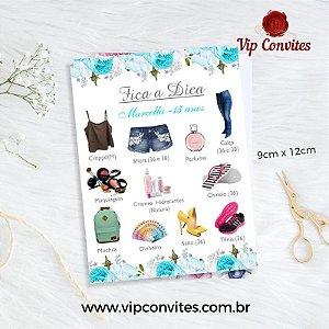 CARTÃO FICA A DICA - SUGESTÃO DE PRESENTES - 50 UNIDADES
