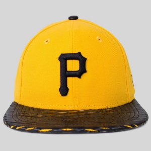 Boné New Era Snap Back Pirates Amarelo