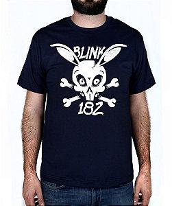 Camiseta blink-182 Skull Bunny Marinho
