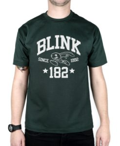 Camiseta blink-182 College Musgo
