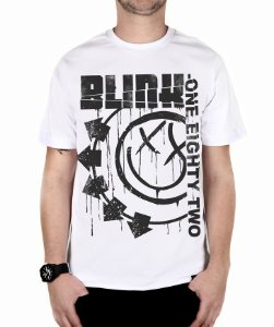 Camiseta blink-182 Blink One Eighty Two Branca