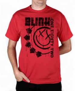 Camiseta blink-182 Blink One Eighty Two Vermelha