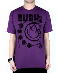 Camiseta blink-182 Blink One Eighty Two Roxo