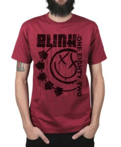 Camiseta blink-182 Blink One Eighty Two Vinho