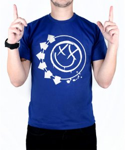 Camiseta blink-182 Smiley Royal