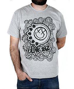Camiseta blink-182 Smiles On Smiles Cinza Mescla