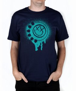 Camiseta blink-182 Smile Painted Marinho