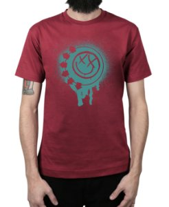 Camiseta blink-182 Smile Painted Vinho