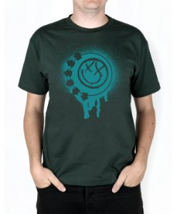 Camiseta blink-182 Smile Painted Musgo