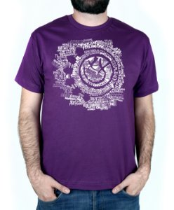 Camiseta blink-182 Smile Songs Roxo