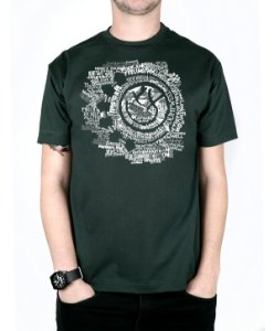 Camiseta blink-182 Smile Songs Musgo