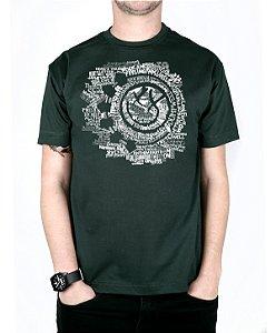 Camiseta blink-182 Smile Songs Musgo