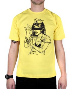 Camiseta blink-182 Enema Girl Amarela