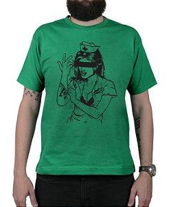 Camiseta blink-182 Enema Girl Verde
