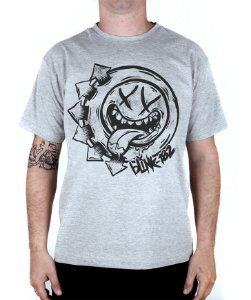 Camiseta blink-182 Smile Hungry Cinza Mescla