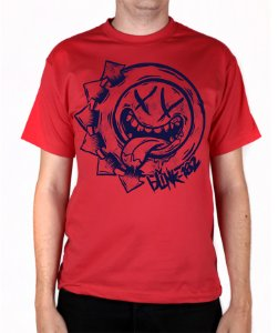 Camiseta blink-182 Smile Hungry Vermelha