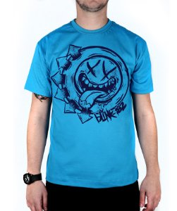 Camiseta blink-182 Smile Hungry Turquesa