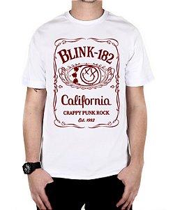 Camiseta blink-182 Jack Daniels Branca