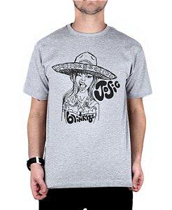 Camiseta blink-182 Josie Cinza Mescla