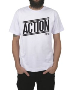 Camiseta Action Clothing Tagless Branca