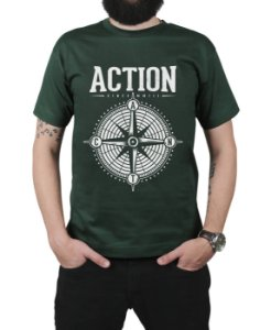 Camiseta Action Clothing Compass Musgo