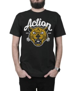 Camiseta Action Clothing The Panther Preta