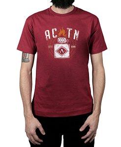 Camiseta Action Clothing Let It Burn Vinho