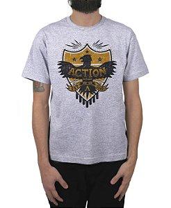 Camiseta Action Clothing Armor Cinza Mescla