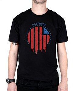 Camiseta Bleed American Flag Preta